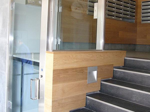 Detalle de la accesibilidad total para portal en Santutxu, Smark Studio, Arquitectura Bilbao