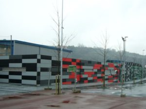Dirección de obra para vestuario de fútbol. Arquitectura Bilbao, Smark Studio.