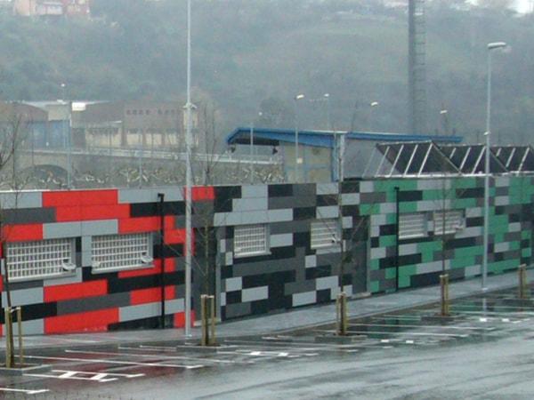 Dirección de obra, vestuario de fútbol. Arquitectura Bilbao, Smark Studio.
