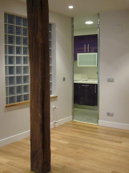 Detalle de interior en rehabilitación de vivienda, Arquitectura Bilbao.